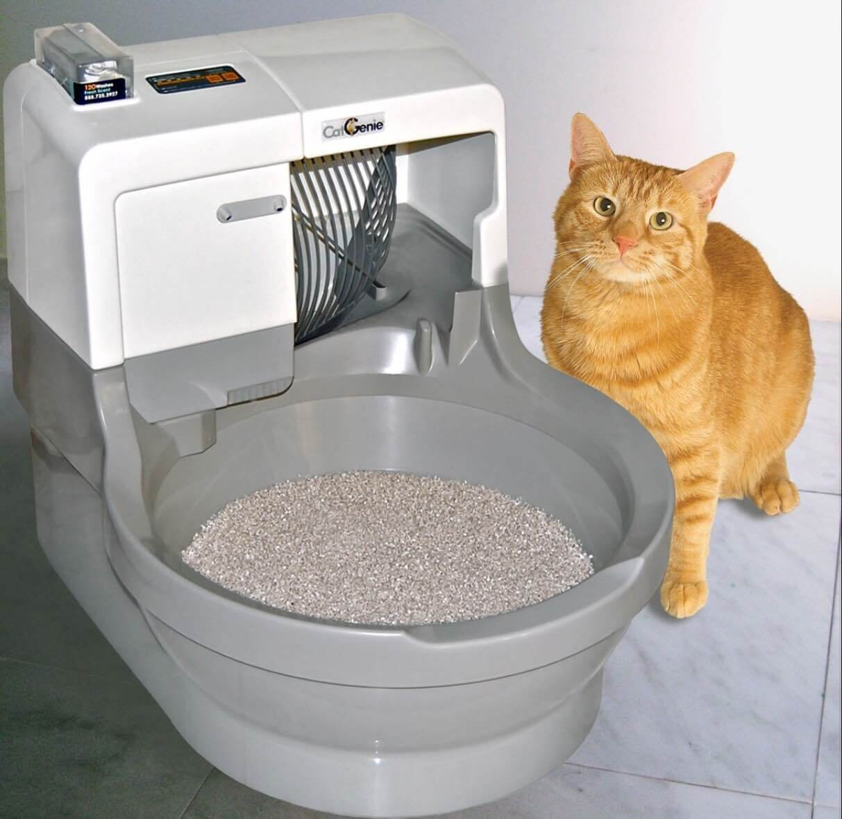 Catgenie Self Washing Amp Flushing Cat Litter Box Automatic