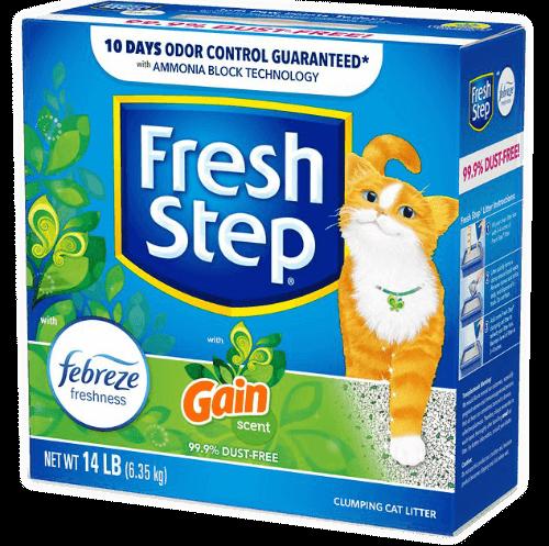 fresh step febreze cat litter