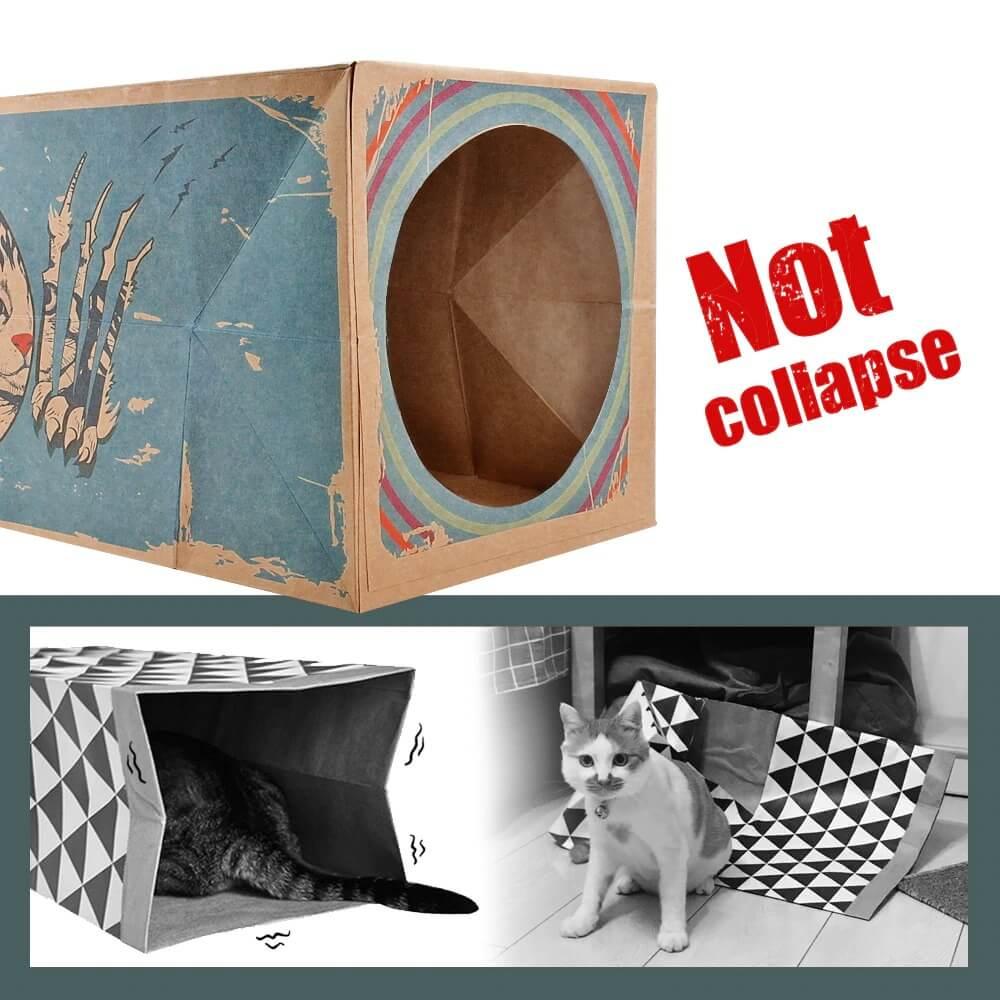 diy cat cardboard tunnel