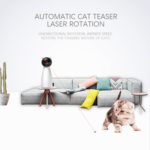 automatic laser light cat toy