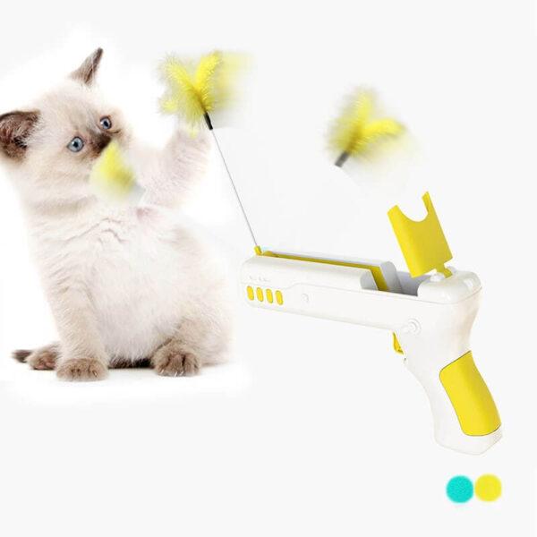 rebound cat toy gun